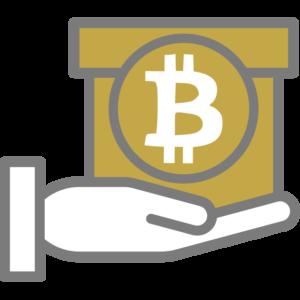 Logo Bitcoin Geschenk